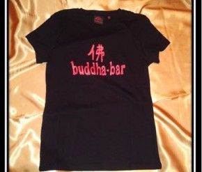 Women T-Shirt Buddha Bar black-red print, size XS/S,M/L