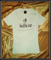 Woman´s T-Shirt Buddha Bar white-black print, size XS/S,M/L
