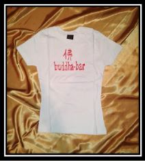 Woman´s T-Shirt white-red print, size XS/S.M/L